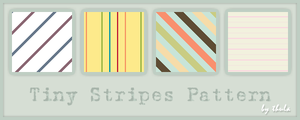 Tiny Stripes Pattern by ThulaMarquise