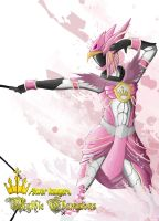 Power Rangers: Mythic Champions Pink Griphon by the-newKid