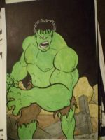 HULK in Watercolor by phymns
