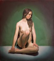 Seated Nude by LordSnooty