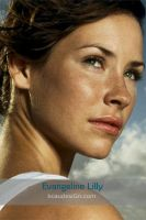 Evangeline Lilly iPhone Wall by kcaudesign