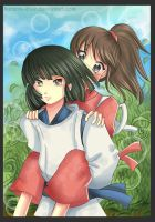 -- AT: Haku and Chihiro -- by Kurama-chan
