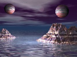 Twin Planets by justmonti