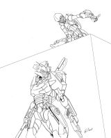 Predator and Prey line art by Tramp-Graphics