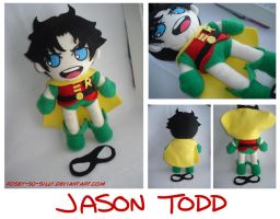 Batman- Robin aka Jason Plush by rosey-so-silly