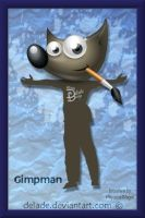 GIMP Splash-Screen Gimpman by delade