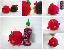 Sriracha Rooster Sauce Plush by Jonisey