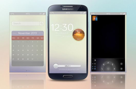 Samsung Galaxy S4 LockScreen by Shinkaruk