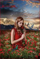 Red flowers... by moonchild-ljilja