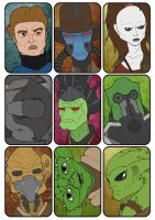 Star Wars Sketch Card Set 4 by JasonWelcome