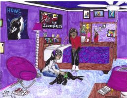 Trade for UltraViolet14: Violet and Wakanda by Violet-the-Siberian