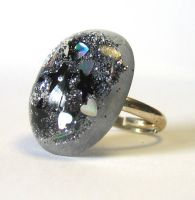 Cosmic glitter ring by BazaarHereToday