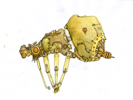 Steampunk spider by egeres