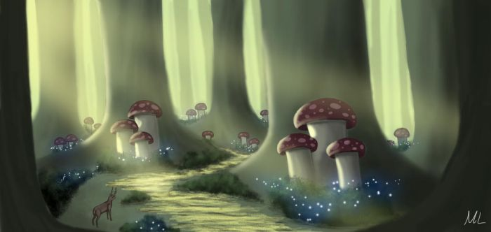Mushroom Forest Environment Concept by MattzProductionz