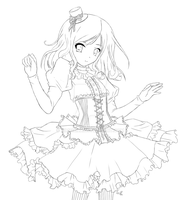 Contest: Belle - lineart by ximbixill