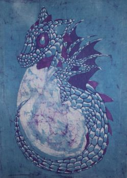 Dragon Treasure batik by Stravagante111
