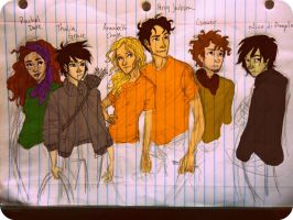 The Percy Jackson Crew by cheesebucket100