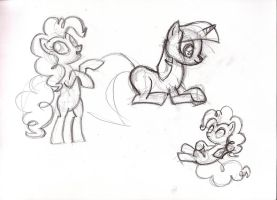 MLP Study Sketches - s1e5 - pt.1 by MadderMike