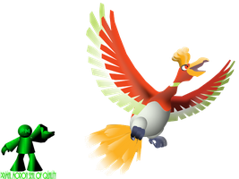 Ho-oh Custom Artwork by PrimalMoron