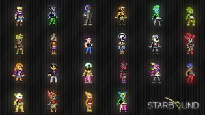 Starbound Multi Race Wallpaper by adejesus123