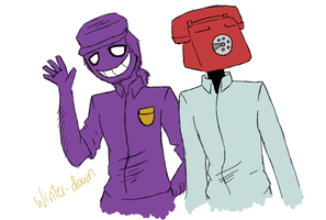 phone guy and purple guy by winter-dawn