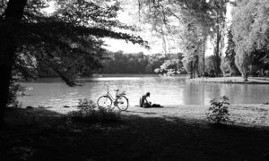 Girl by the lake by TanBekdemir