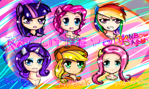 Mane Six Head Doodles by WendySakana