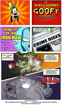 GOOFY in How to be an Iron Man Page 1 by DaveAlvarez