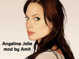 Angelina Jolie Wallpaper by amitsaraf32
