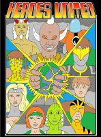 Heroes United Cover B by mja42x