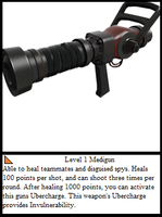 TF2 Trading Card: Medigun by UltimaWeapon13