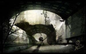 Infected Train Station by Guernicas