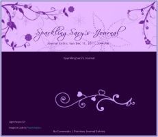 Light Purple Journal Skin by SparklingSary