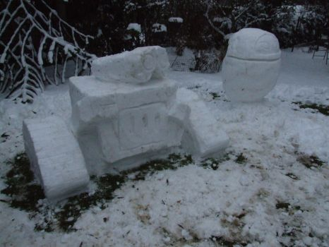 Robot Snowmen by StoicLewy