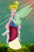 Tinkerbell as Mulan: Colored by whysp80