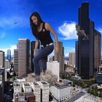 Giantess Stefani on the Loose! by JingleJangleJam
