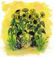 Sunflowers by sweet-suzume