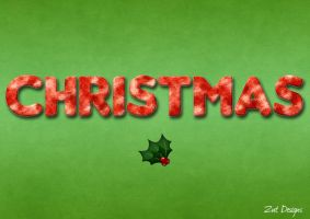 Christmas Typography by z0enatasha