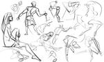 Warmups 10-15-14 by wadedraws