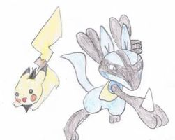 vincent the pikachu and rony by Virexius