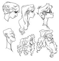 Harry Potter heads by Ro-ol