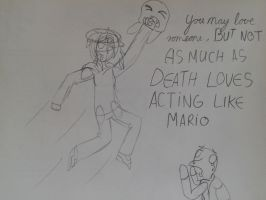 Death his mario now by AestheticTotem