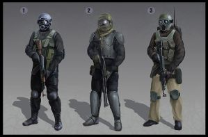 Special force character design 1-3 by LMorse