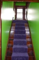 Green Stairwell by coffeenoir
