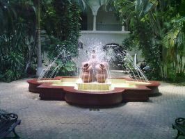 Fountain at the museum by HELLPATO777