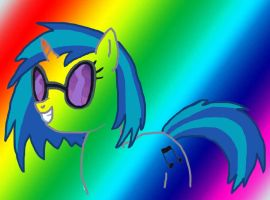 Rainbow Vinyl Scratch by swimfreak660
