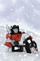 Snowy Sideswipe by Shafau by TaintedTamer