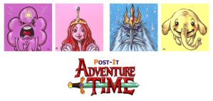 POST IT ADVENTURE TIME PART TWO by QuinteroART