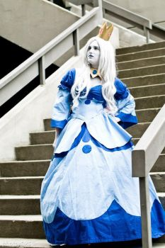Ice Queen - Thinking on the stairs by penguinluv4ever