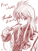 Thanks Event Free Sketch by Michron